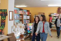 místní knihovna - výstava klobouků